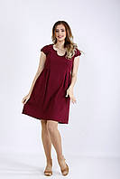 Льняное платье бордо | 01172-1 GARRY-STAR
