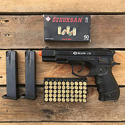Стартовый пистолет Blow C-75 + 50 патронов Ozkursan 9 мм (черный)