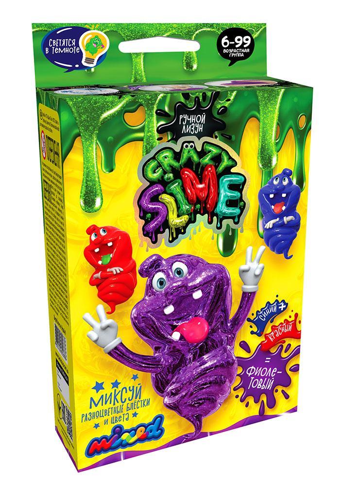 Ручний лизун Crazy Slime Mini Фіолетовий (SLM-02-04)