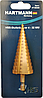 Свердло ступеневу по металу 4-32 (конусне, крокове, ялинка) Hartman з шестигранним хвостовиком