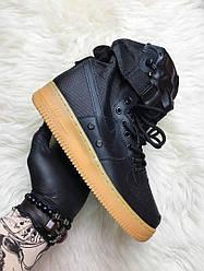 Мужские кроссовки Nike Air Force Special Field (черные)