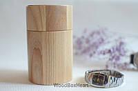 Деревянный футляр шкатулка для хранения наручных часов