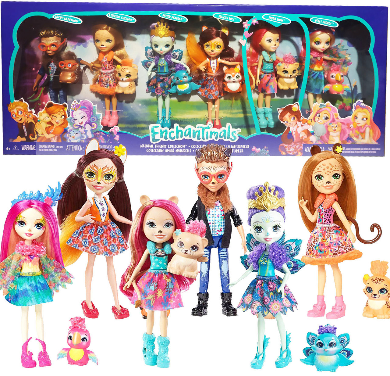 Энчантималс Супер набор из 6 кукол с питомцами / Enchantimals Natural Friends Collection 6 Dolls