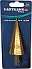 Сверло ступенчатое по металлу 4-32 (конусное, шаговое, елочка) Hartmann