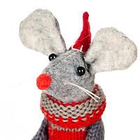 """Игрушка """"Серая мышка в вязаном свитере"""""""