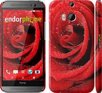 "Чехол на HTC One M8 dual sim Красная роза ""529c-55"""
