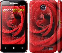 """Чехол на Lenovo A820 Красная роза """"529c-68"""""""