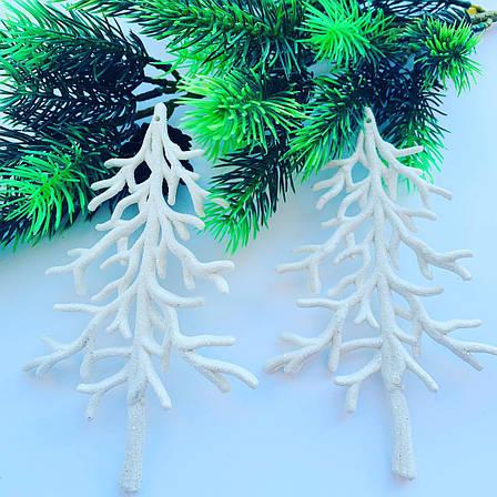 Новогоднее украшение-«Ель белая»(2шт), фото 2