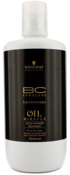 Золотая маска-блеск для волос Schwarzkopf Professional ВС Bonacure Oil Miracle Gold Shimmer Treatment 750 мл