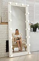 ☀️❤️Зеркало с подсветкой☀️ Натуральное 🌲Дерево! Зеркало в полный рост с подсветкой напольное белый лак.