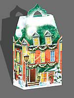 Подарочная коробка для конфет, Новогодний замок, Новогодняя подарочная упаковка ,коробка для конфет.