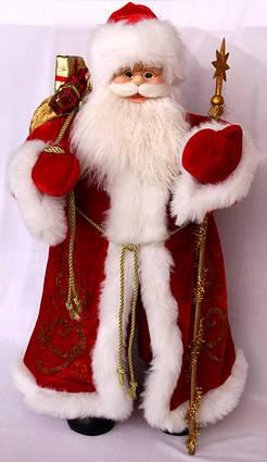 Дед Мороз в красной шубе, 81 см, (600045-1)