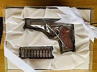Шоколадный набор Пистолет Беретта и патроны. Прикольные подарки мужчине