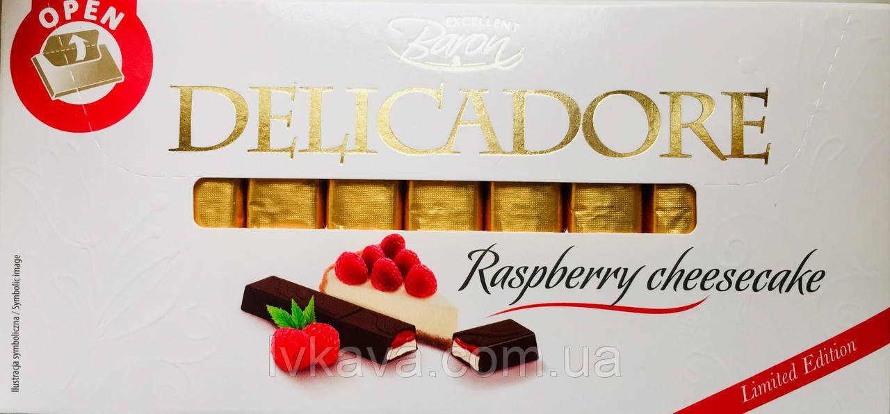 Молочный шоколад Delicadore Raspberry cheesecake ,200 гр