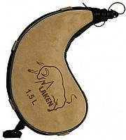 Кожаная фляга для алкоголя Laken Leather canteen kidney shape на 1,5л