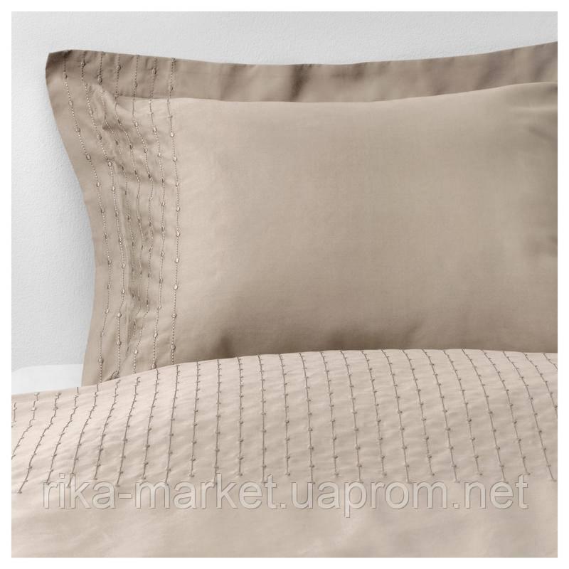 Комплект постельного белья ИКЕА IKEA Praktviva 220х240 бежевый в наличии