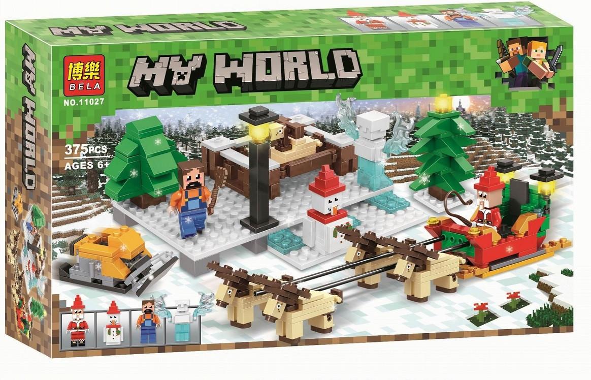 Конструктор Bela 11027 Прогулка на оленях - Аналог Lego Minecraft 375 дет