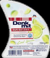 Освежитель гелевый 2в1 Denkmit 150г Лимон