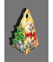 Картонная упаковка для конфет,  Мышка с сыром, 300 грамм