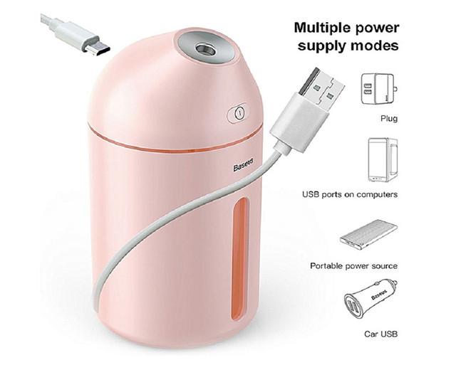 Увлажнитель воздуха 320 мл ультразвуковой Baseus Cute Mini Humidifier