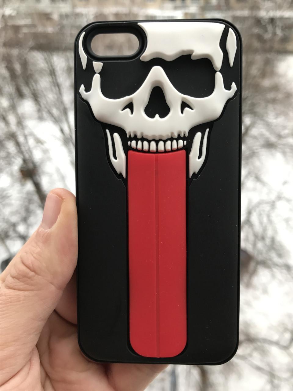 Чехол череп iphone 6/6s + защитное стекло на экран в подарок