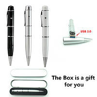 Лазерная ручка флешка  3 в 1  черная (32Гб USB flash 32Gb) USB 3.0