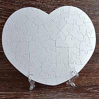 Пазлы сублимационные сердце, 24,5*19,5см