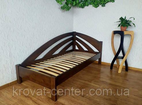 """Угловая односпальная кровать из массива дерева """"Радуга"""" от производителя 90х200, 7 цветов на выбор, фото 2"""