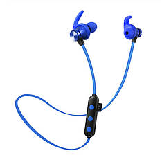 Беспроводная гарнитура 2в1 bluetooth-наушники + MP3-плеер (синий)