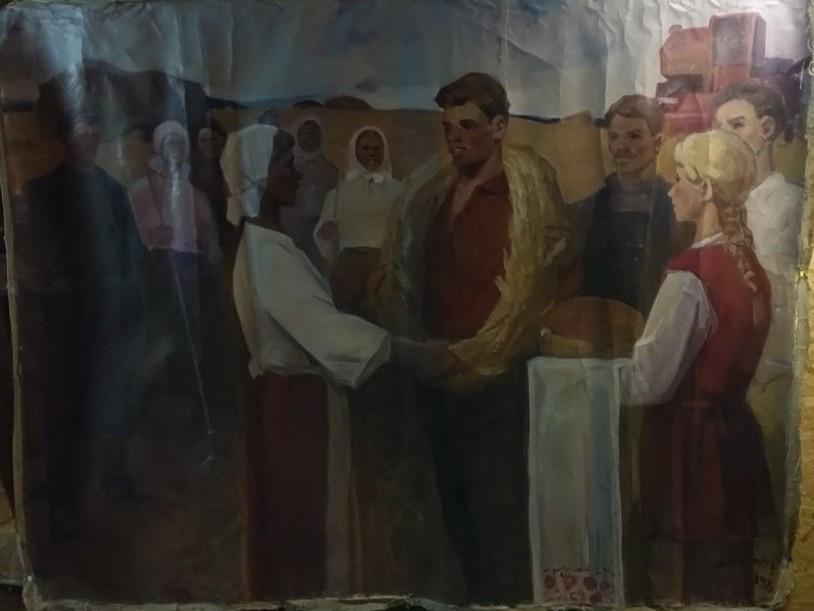 Праздник урожая 1978 год худ.Никоноров