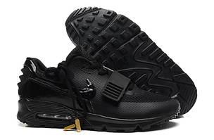 Кроссовки Nike Air Yeezy Low Black черного цвета