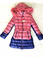 Пальто для девочки зимнее, длинная куртка