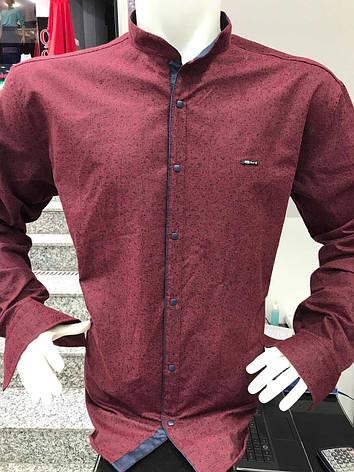 Теплая кашемировая батальная рубашка Paul Jack стойка, фото 2