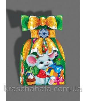 Новогодняя коробка, Мешок мышки, 600 гр, Картонная упаковка для конфет