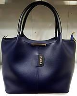 Женская сумка Zara из эко-кожи 31*23 (см) синего цвета, фото 1