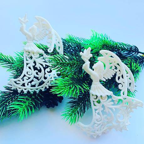 """Новогоднее украшение-«Ангел белый""""(2 шт), фото 2"""