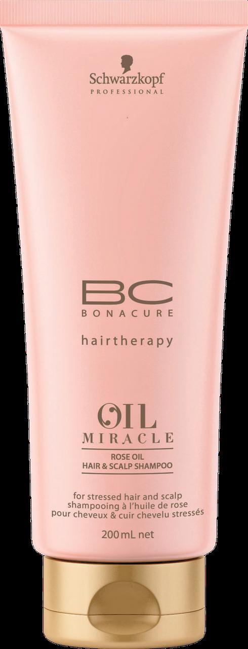 Шампунь с экстрактом дикой розы Schwarzkopf Bonacure Oil Miracle Rose Oil Hair & Scalp Shampoo 200 мл