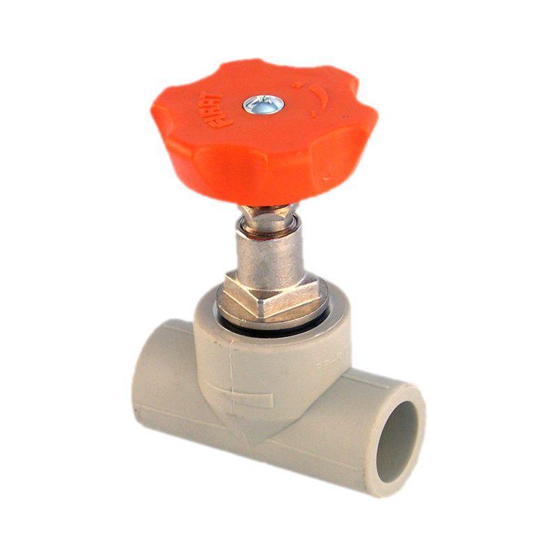 Вентиль, PP-R, D = 25 мм, серый Firat