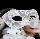 Маска біла карнавальна 23*8см, фото 2
