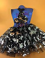 Костюм ведьмочки для девочки (шляпка обруч, юбка)