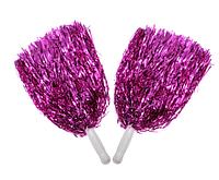Помпоны для черлидинга фиолетовые