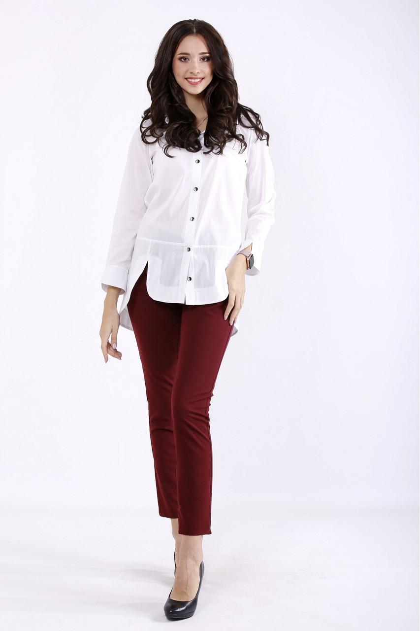 01282-1   Белая рубашка женская большого размера 42-74