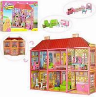 Ляльковий будиночок 6983 з меблями, 2 поверхи і 6 кімнат, фото 1