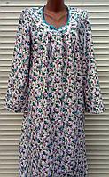 Теплая ночная рубашка из фланели большого размера 64 размер, фото 1