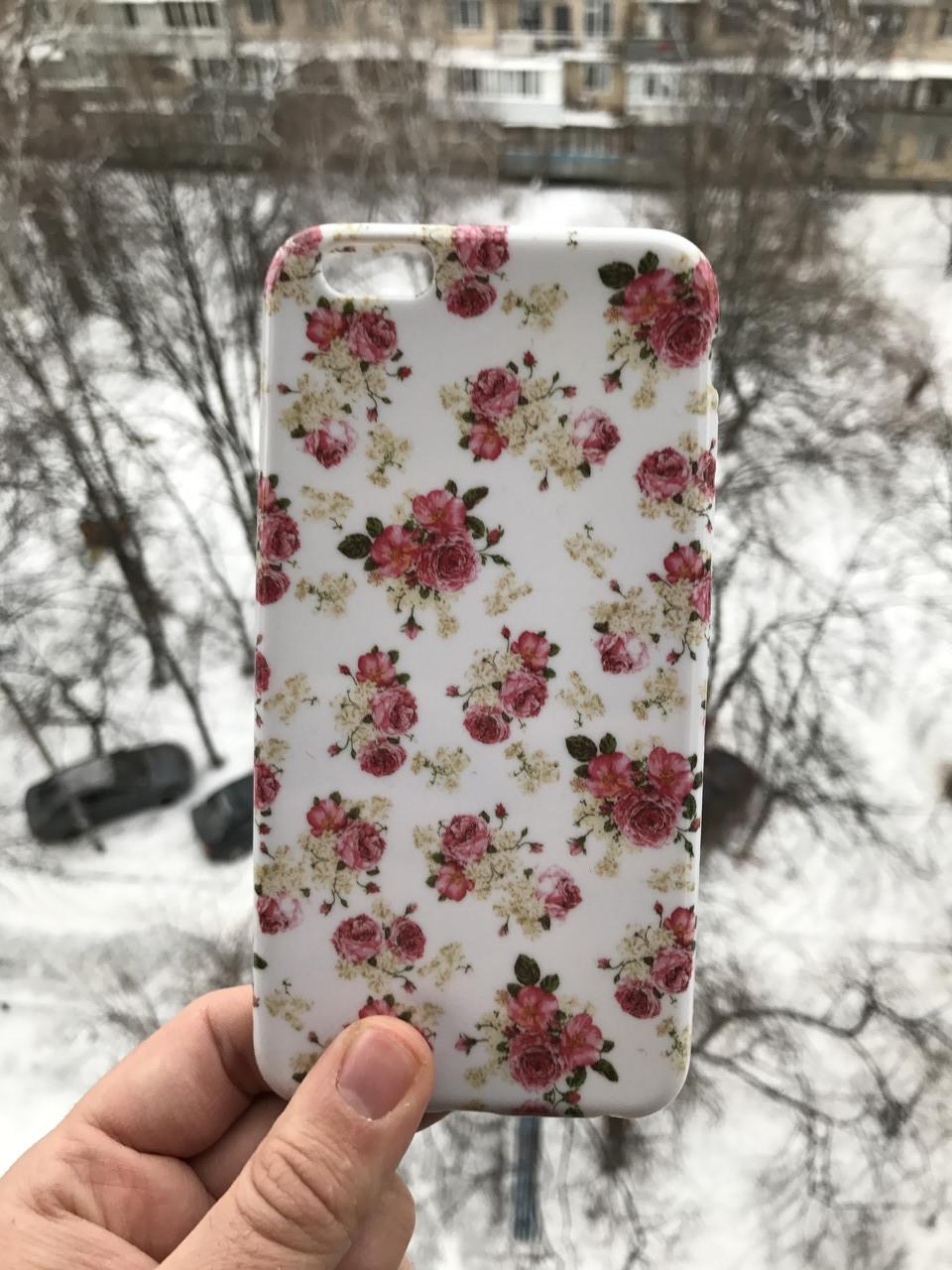 Чехол для iPhone 6\6s plus Cath Kidston Flowers + защитное стекло на экран в подарок
