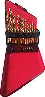 Набор сверл с титановым покрытием Fangda 13 ед, 1,5-6,5мм (металлическая коробка)