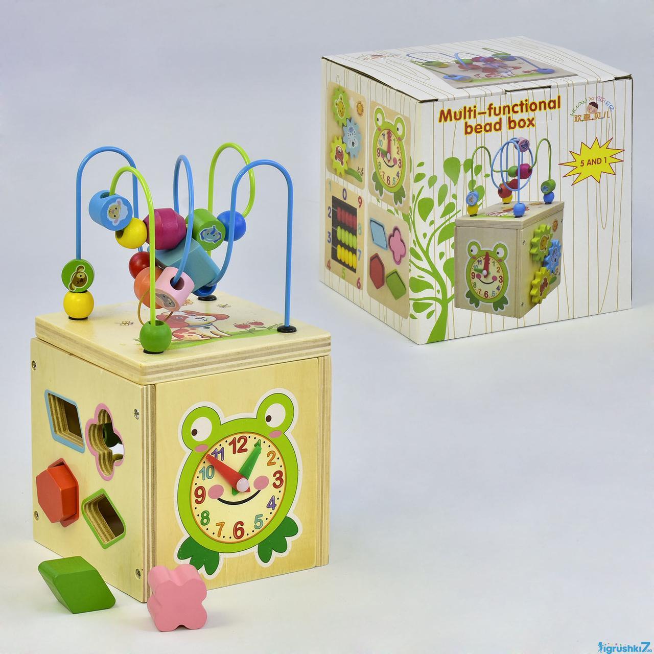 Дерев'яний Логічний куб 5в1 З 35873