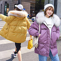 Женский стильный пуховик пальто все размеры зимний новейшая модель 2019 -20 г.(HK-1770)