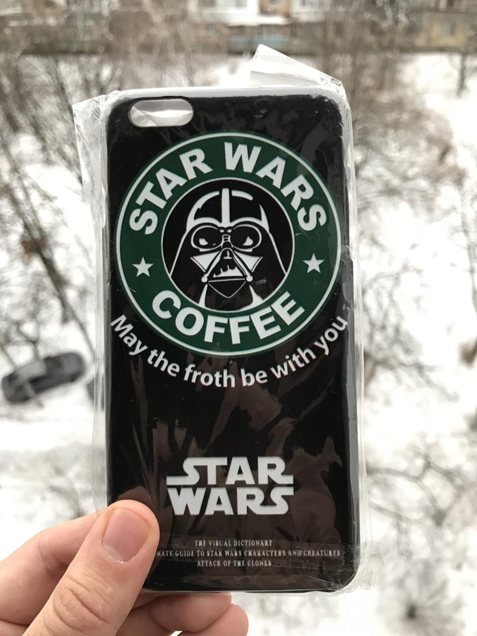 Чехол для iPhone 6\6s plus Звездные войны Star wars + защитное стекло на экран в подарок