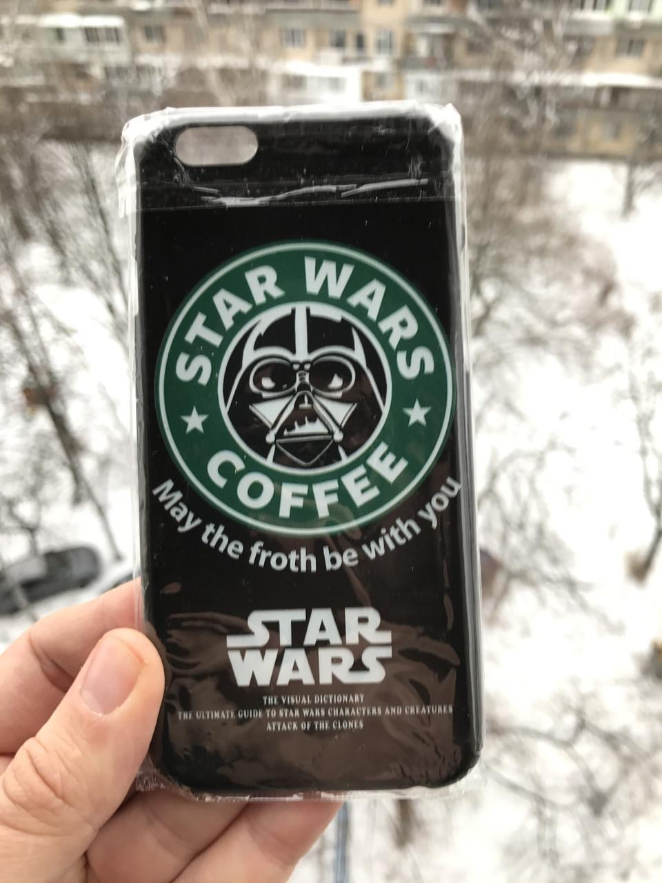 Чехол для iPhone 6\6s Звездные войны Star wars + защитное стекло на экран в подарок